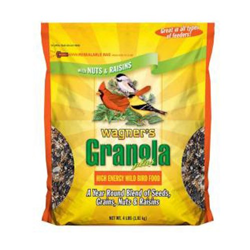 Wagner's 62061 Granola Plus High Energy Wild Bird Food, 4-Pound ()