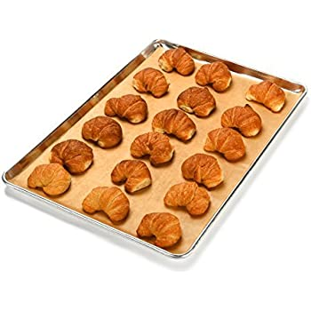 Large Unbleached Parchment Paper Sheets (200 pcs) - Perfect Fit for 18x26 Full Size Baking Sheet Pan for Commercial Kitchens - Greaseproof and NonToxic