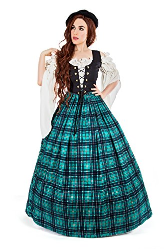Highlander Fancy Dress Costumes - Outlander Scottish Highland Games Costume (S/M,