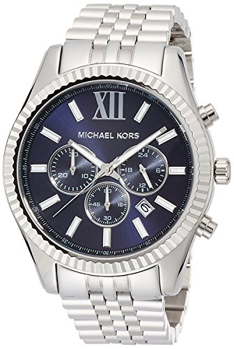 5b6b74261270 [マイケルコース] MICHAEL KORS 腕時計 Lexington Chronograph Navy Dial Men's Watch メンズ  MK8280 [