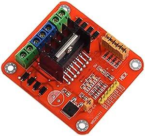 L298 Module Red Big Board (محرك مزدوج لجسر H يستخدم L298N)