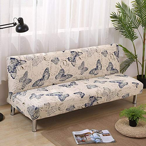 Folding Sofa Bed Cover Tight All-Inclusive Slip-Resistant No armrest Sofa Cover Elastic Stretch Slipcover seat Cases 155-200cm   4
