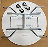 36 Inch Round Folding Table on Wheels
