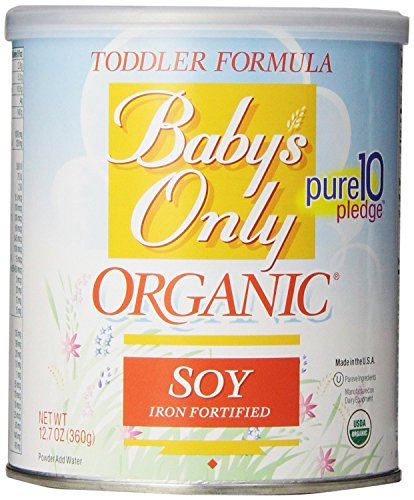 Babys Only Soy Organic Toddler Formula, 12.7-Ounce Canister (Pack of 2)