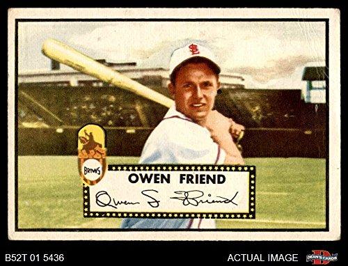 1952 Topps # 160 CRM Owen Friend St. Louis Browns (Baseball Card) (Cream Back) Dean's Cards 1.5 - FAIR Browns - Louis Browns Baseball Card