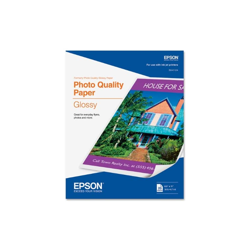 Epson Photo Quality Glossy 8 1/2 x 11 In