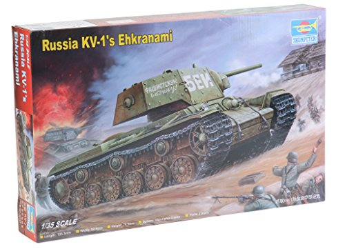 Trumpeter 1/35 Soviet KV1's Ehkranami Tank, used for sale  Delivered anywhere in USA