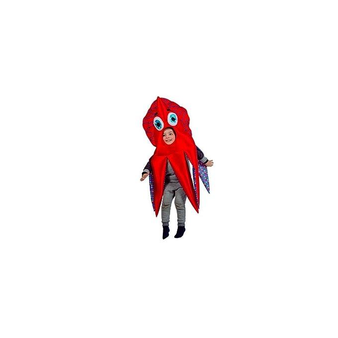 Disfraz de Calamar rojo para niño: Amazon.es: Juguetes y juegos