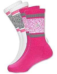 Girls Jordan Jumpman Elephant Print 2-Pack High Crew Socks 3Y-5Y