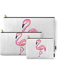 Society6 Flamingo Carry-All Pouch