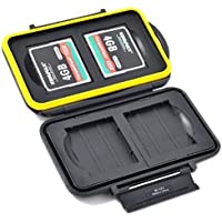 JJC MC-CF4 Rugged Water-Resistant Memory Card Case (4X CF/CompactFlash)