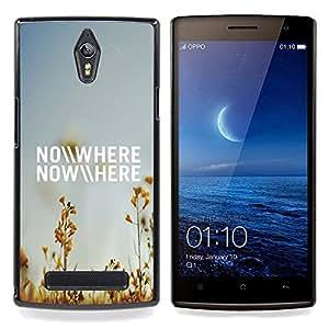 For Oppo Find 7 X9007 - Nowhere Field Summer Sky Blue Nature /Modelo de la piel protectora de la cubierta del caso/ - Super Marley Shop -