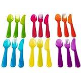 Ikea Kalas 901.929.62 18-Piece BPA-Free Flatware Set, Multicolored (2, DESIGN 1)