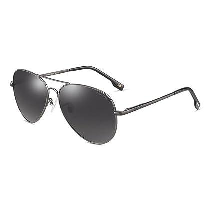 243802504 PARZIN Hombre Gafas de Sol Aviador polarizado de conducción con Súper Ligero  Al-MG Marco