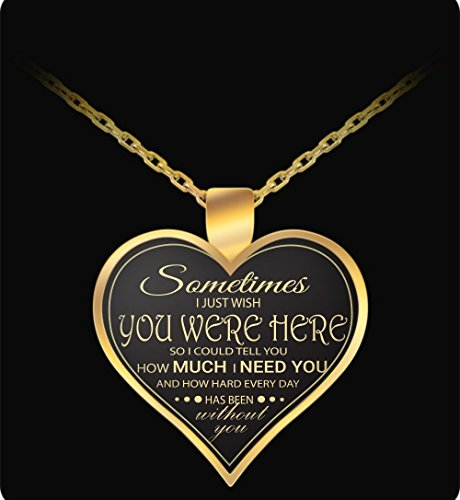 Husband Wife Necklace - Gold - Cute & Romantic - Heart Pendant - For Valentines
