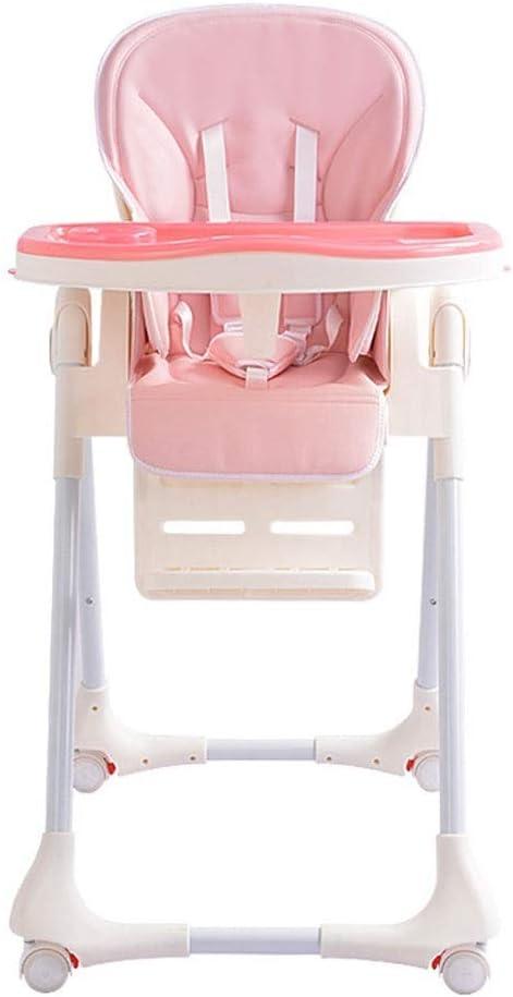 GONGFF Columpio, Silla Alta Plegable para bebé - tronas para Comedor de bebé con 7 Posiciones de posición de Engranaje y Asiento Ajustable - sillas Altas con arnés de Seguridad y Bandeja extraíble