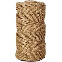 Natural Jute Twine 3 Ply, LaZimnInc Best Arts Crafts Gift Twine, Christmas Twine Industrial Packing Materials Durable String for Gardening Applications (1 Pcs x 300 Feet)