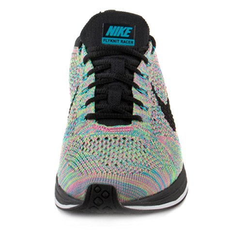 Nike Unisex Flyknit Racer Green Strike/Black Blue Lagoon Running Shoe 10 Men US / 11.5 Women US by NIKE (Image #2)
