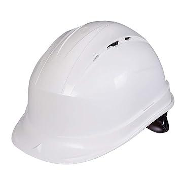 NJ Casco- Casco de Seguridad Sitio Líder en construcción Ventilación Ingeniería de construcción Seguro Laboral Antiacabado (Color : Blanco): Amazon.es: ...