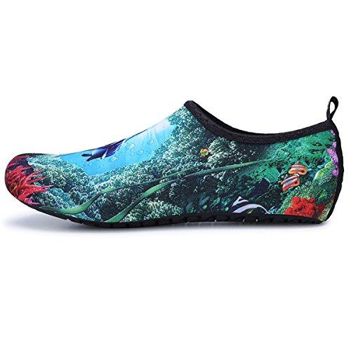 Water Green Womens Mens Aqua And Surf Beach Shoes Summer Swim Socks Exercise Outdoor Yoga Dolphin Jiasuqi For xXdp4qZwd