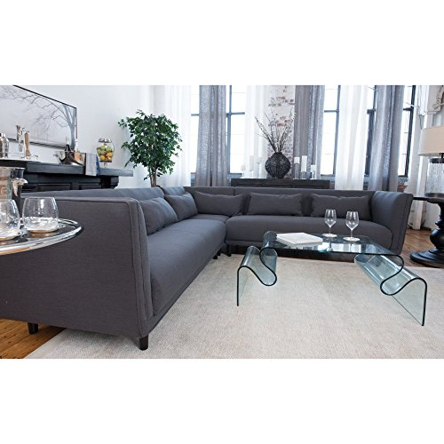 Manhattan Fabric Collection Dual Loveseat Sectional in