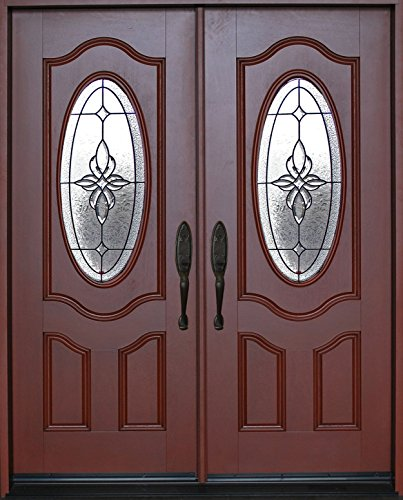 Exterior Front Entry Double House Fiberglass Door M800B 30