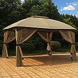 MASTERCANOPY Patio 10X12 Bermuda Gazebo Canopy Soft Top with Mosquito Netting