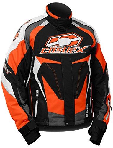 Castle X Charge-G3 Mens Snowmobile Jacket - Orange - 2XL
