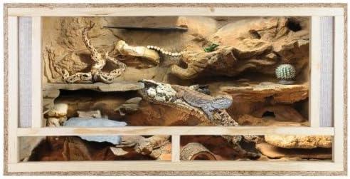Terrario: madera Terrario para Reptiles parte frontal con ventilación 120 x 60 x 60 cm, alta calidad Terrario Madera de OSB, montaje sencillo - Front Vent