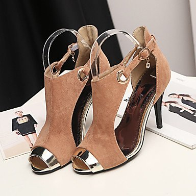 LvYuan sandalias de la primavera zapatos del club de la caída del verano del gladiador de fiesta de la boda de vellón comodidad&noche tacón Yellow