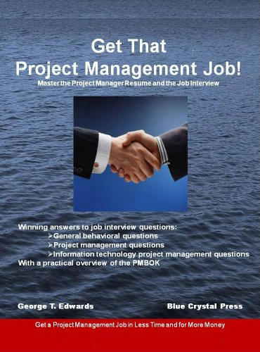 Get That Project Management Job Master The Project