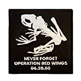 Operation Red Wings Never Forget Lone Survivor SDVT-1A Skull Frog Navy Seals Touch Fastener Patch