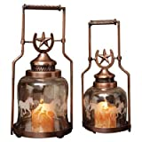 Gifted Living Horse Shoe Galloping Lantern , Set of 2