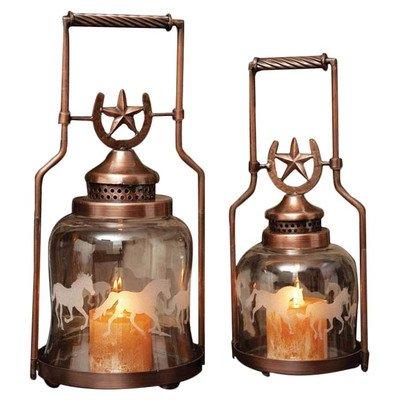 Gifted Living Horse Shoe Galloping Lantern , Set of 2