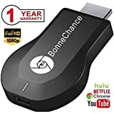 Wireless HDMI Dongle WiFi Display Dongle 1080P Airplay TV Dongle Digital AV to HDMI Connector for iOS/Android/Samsung/iPhone/iPad Support DLNA/Airplay Mirror/Miracast/Ezcast/Chromecast by BonneChance