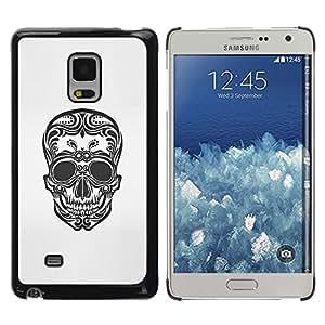 Shell-Star Arte & diseño plástico duro Fundas Cover Cubre Hard Case Cover para Samsung Galaxy Mega 5.8 / i9150 / i9152 ( Floral Art Skull Death Biker Tattoo Ink )
