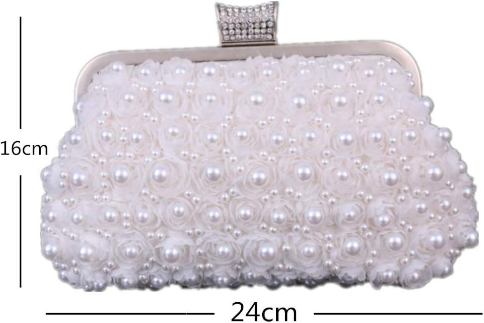 Beige 3 MMYOMI Vintage Floral Perlen Clutch Hochzeit Prom Bag Braut Damen Crossbody Abend Handtasche