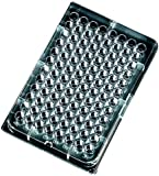 Sterilin 539224-02 Clear Polystyrene Sterile 96-Well Microtiter Plate, 330 microliter Volume, U-Bottom (Case of 50)