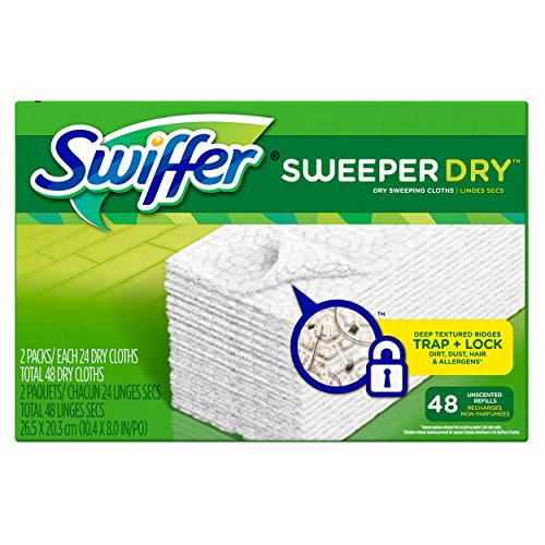 Swiffer Sweeper Dry Sweeping Cloth Refills, 48 Count (Swiffer Mop And Broom Refills compare prices)