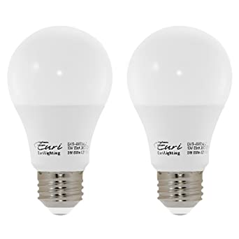 4 Pack 9.5W =60W Non-Dimmable A19 LED 30K Warm White Frosted Med E26 Base Bulb