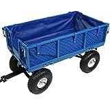 Sunnydaze Garden/Utility Cart Liner, Blue - Includes Liner ONLY