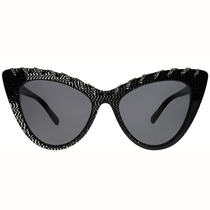 Amazon.com: Stella McCartney SC0163S 003 Black SC0163S ...