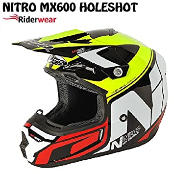 Motocicleta Moto adultos casco de Motocross Nitro MX600 Holeshot Enduro Quad Pit Bike Racing MX Casco