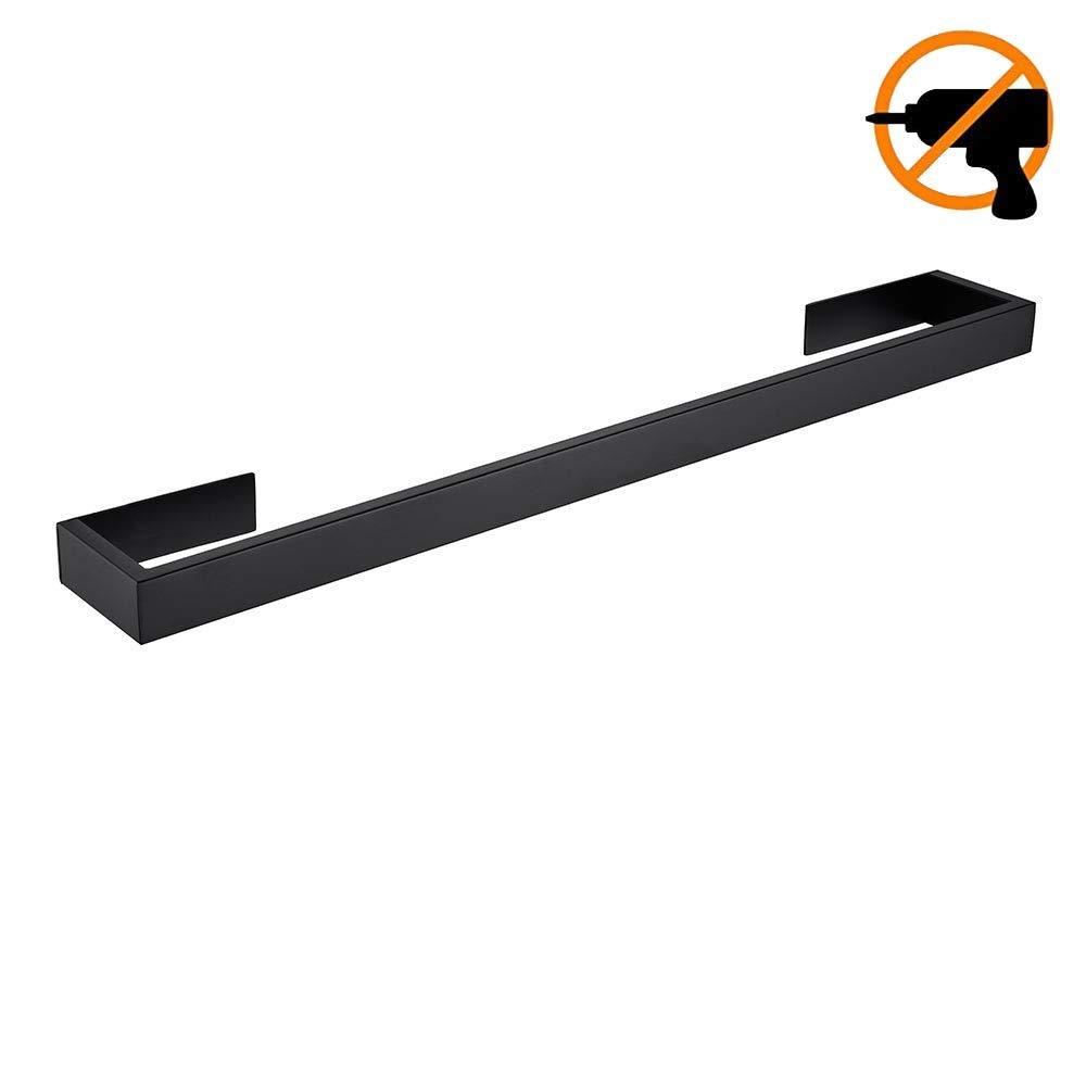 30 cm ba/ño acero inoxidable cromado 30 cm color negro mate Homovater Toallero de barra de acr/ílico autoadhesivo para cocina