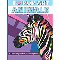 I Heart Pop Art Animals: A Colour-By-Number Colouring Book (I Heart Pop Art Colouring Books)
