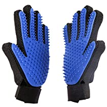 Pet Grooming Glove Brush, Deshedding Tool Pet Shedding Hair, Pet Bathing Brush Or Comb, for Dogs, Cats, Horses(2 Pack Left&Right)