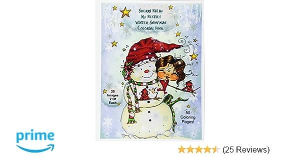 Amazon Sherri Baldy My Besties Winter Snowmen Coloring Book