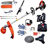 PROGEN POWERFUL 52CC 5 IN 1 PETROL SPLIT SHAFT STRIMMER GARDEN GRASS TRIMMER...