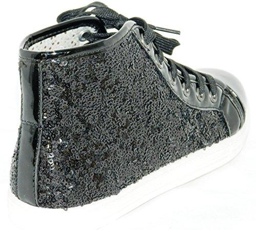 Dames Lace-up Mid-top Nieuwste Sneaker Sneakers Schoenen Zwart