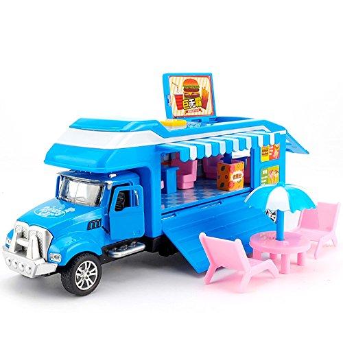 Jouets Les enfants 1:38 alliage voiture-restaurant tirent le camion arrière avec des jouets légers de modèle de musique pour des enfants